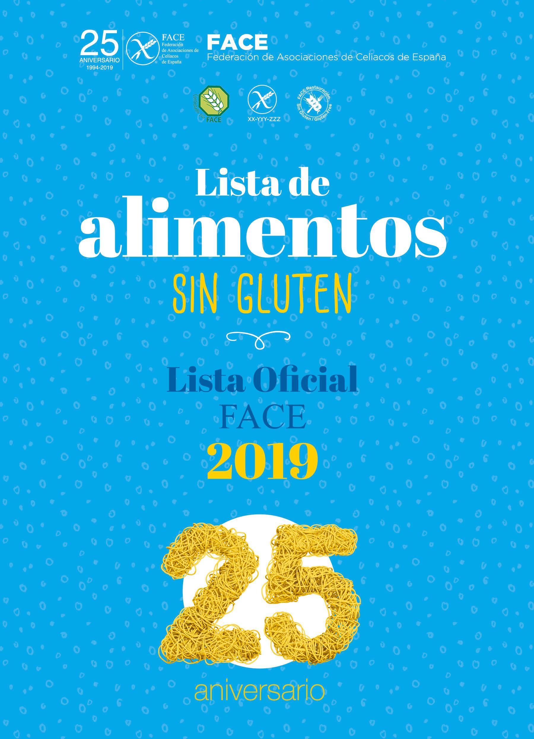 lista de productos gluten free